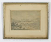 19th c. English watercolor attr. to T. Sunderland