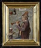 19th c. oil on panel, signed Giessel, Wilhelm F. Giessel, Click for value