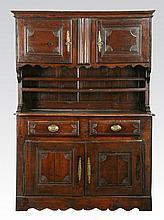 Rare 18th c. French oak vaisselier