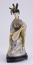 19th c. cloisonne' and ivory sculpture