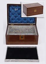 19th c. mahogany jewelry casket