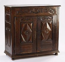 19th c. Continental carved walnut cabinet