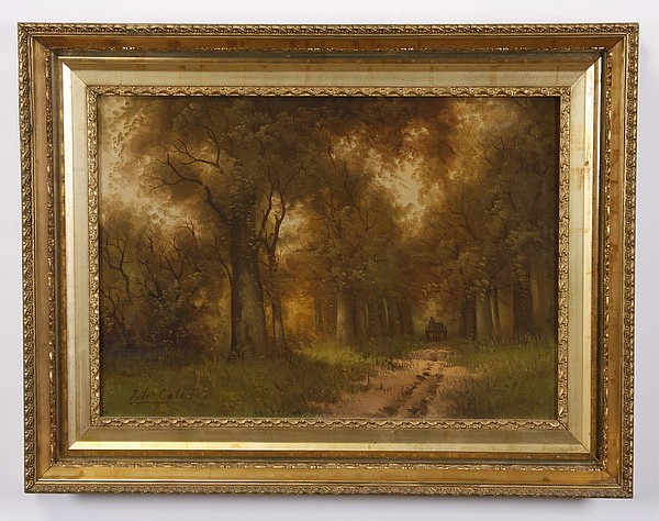 Late 19th c. oil on canvas landscape, signed