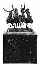 Oversized bronze sculpture with marble base