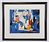 Limited edition abstract lithograph, signed, Ali Golkar, Click for value