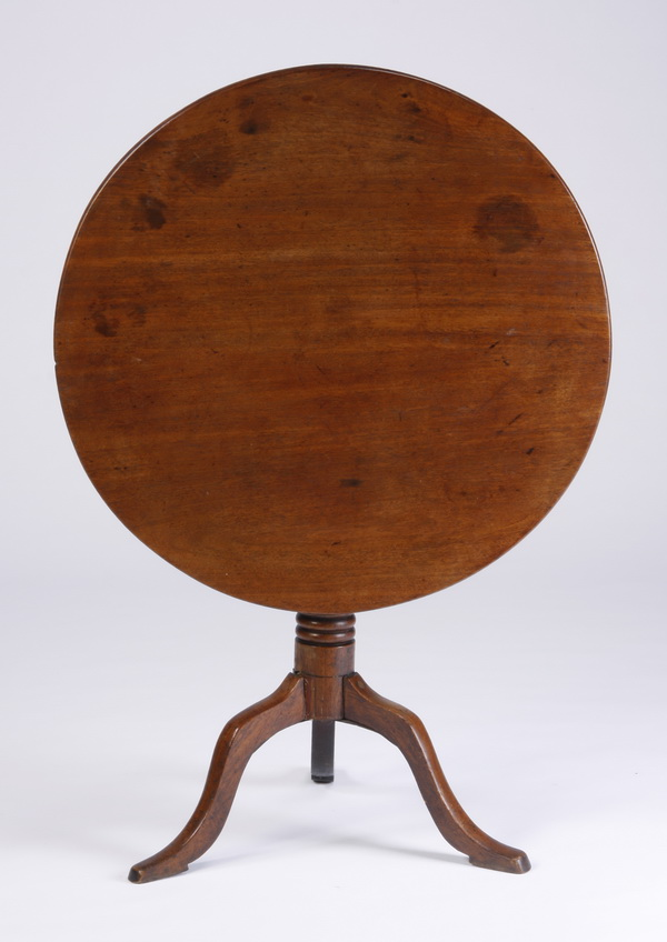 Late 19th c mahogany tilt top table for Th 37px60b table top stand