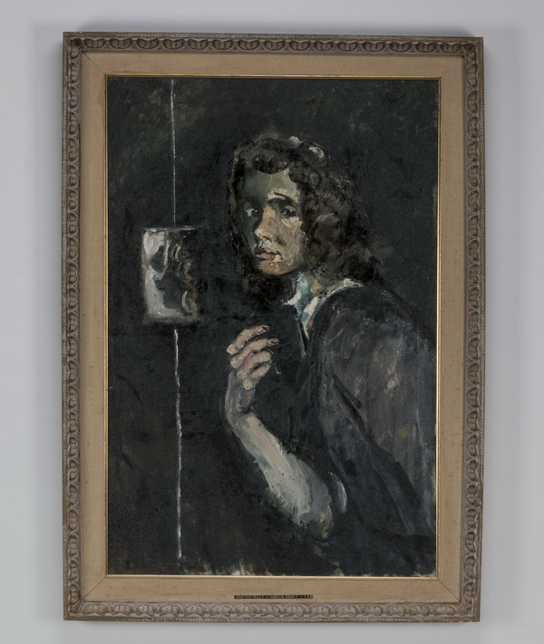 Ingrid Rehert O/c self-portrait, circa 1952, 42