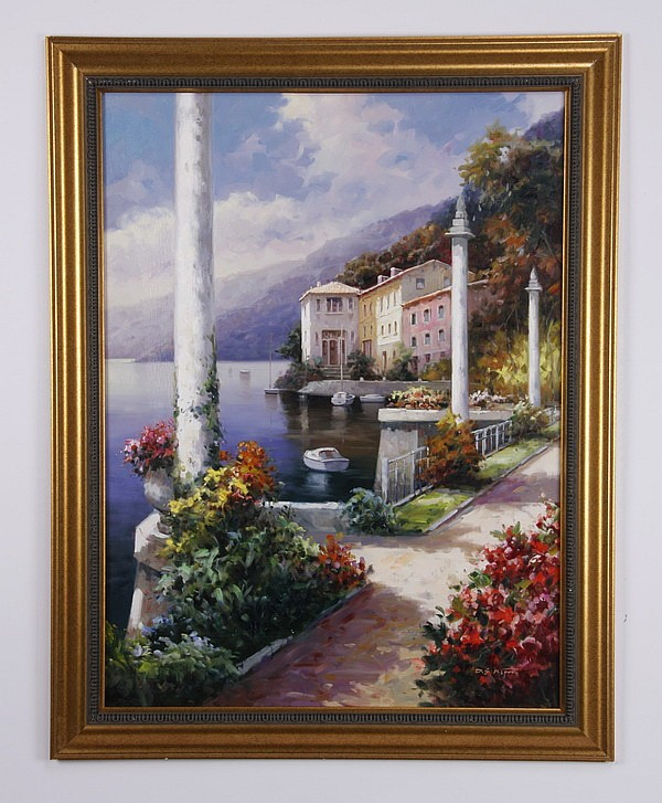 D. S. Kim signed oil on canvas