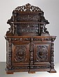 19th c. Belgian carved oak huntboard