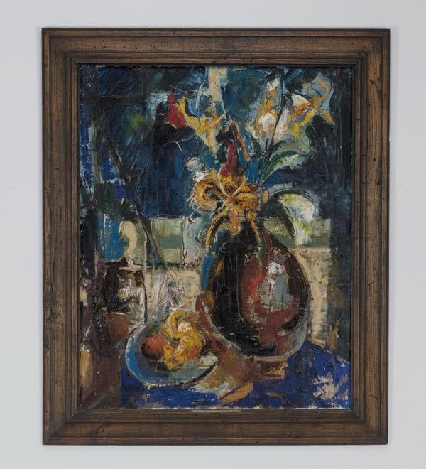 Ingrid Rehert (American) O/c titled 'Spring Flowers'