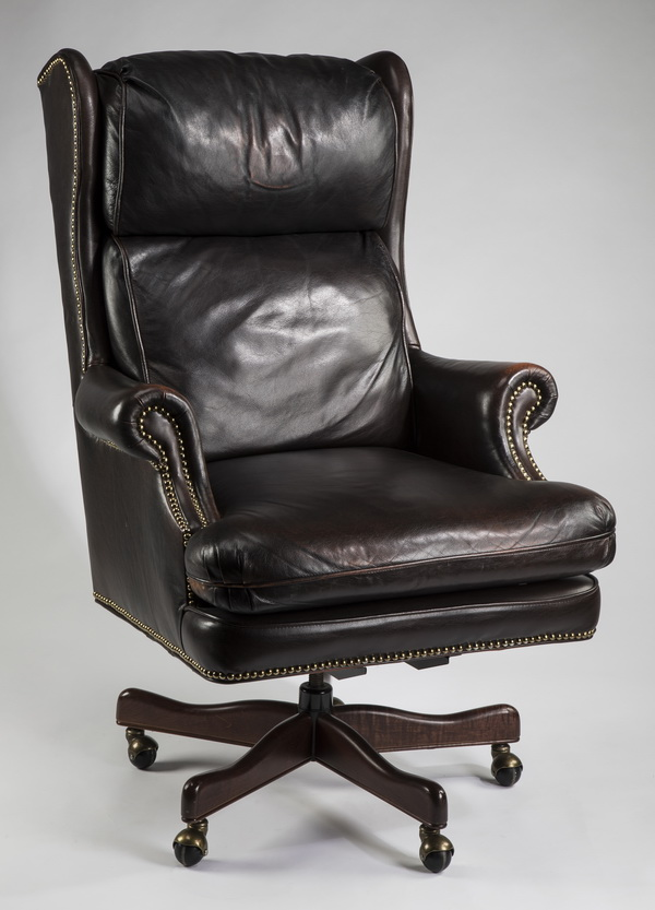 Executive Leather Wingback Swivel Office Chair