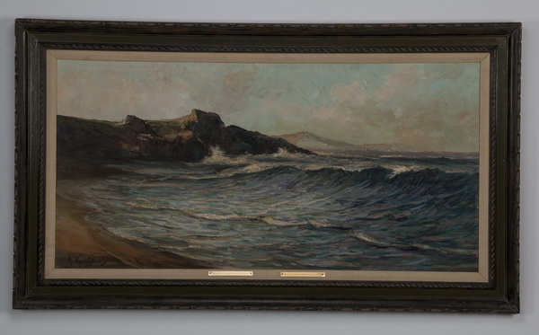 A. Karafyllakis signed O/c of rocky coast