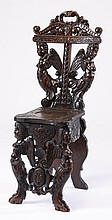 19th c. French Renaissance Revival hall chair
