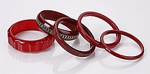 (5) Early 20th c. Bakelite bracelets