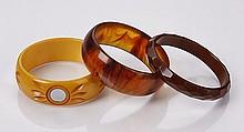 (3) Early 20th c. Bakelite bracelets