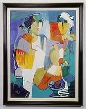 Contemporary abstract oil on canvas, signed