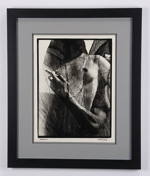 Late 20th c. gelatin silver print, signed