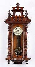 Early 20th c. German walnut regulator clock