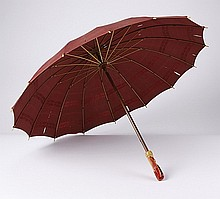 Early 20th c. silk and Bakelite parasol, pin