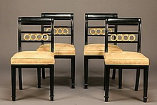 (4) Neoclassical style side chairs