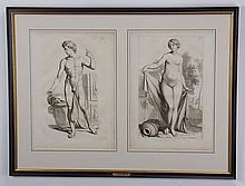 Two 18th c. English human anatomy engravings