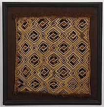 (3) Kuba ritual embroidered raffia cloths