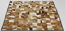 African Springbok gazelle patchwork fur rug,