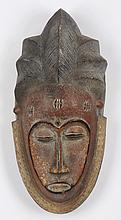Punu wood mask, Gabon