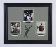 Framed photo grouping of pro golfers