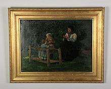 Franz Charlet (Belgian) signed, O/c, 19th c.