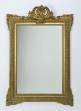 19th c. carved gilt wood mirror, 47