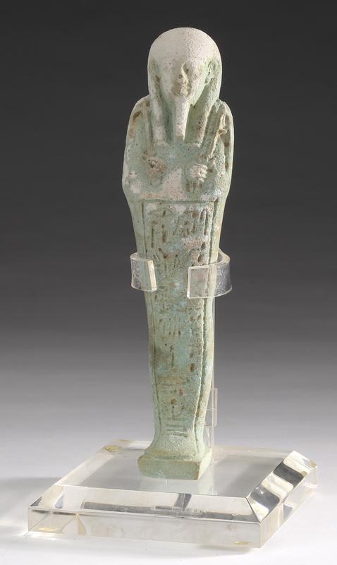 Ancient Egyptian faience ushabti w/ inscription