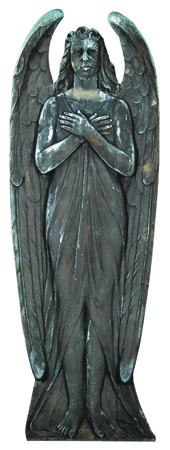 19th c. American bronze angel plaque, 48
