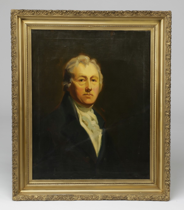 19th c. European O/c portrait of a gentleman, 37