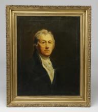 19th c. European O/c portrait of a gentleman, 37