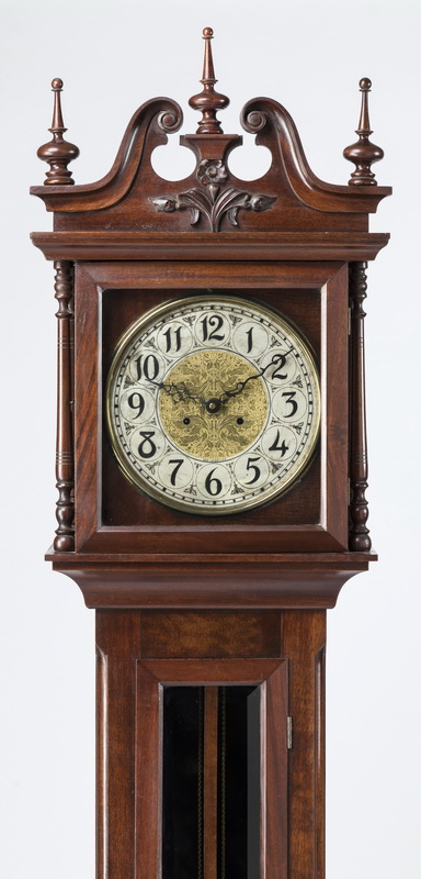 19th c. American New Haven tall case clock, 92