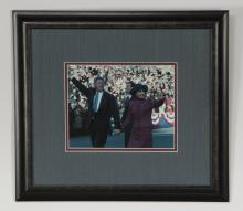 Bill Clinton autographed color photograph