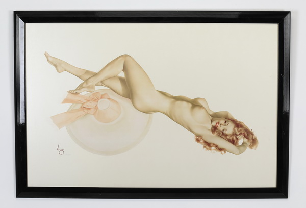Alberto Vargas Legacy Nudes 'Pink Hat' lithograph