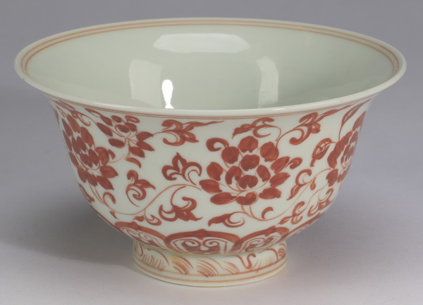 Chinese iron red lotus bowl, 6