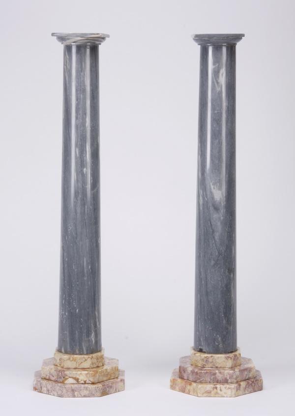 (2) Continental marble columns, 34