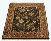 Hand knotted Sino Tabriz wool rug, 10' x 8'