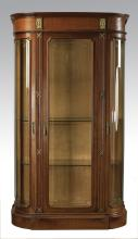 19th c. French Empire style demilune vitrine