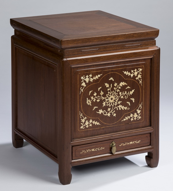 Chinese low cabinet w/ bone inlay, 21