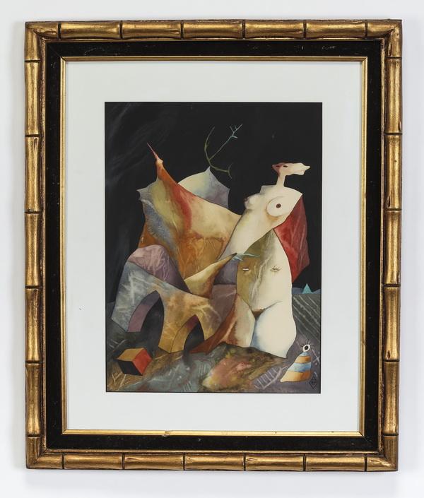Aame Vasar (Estonian) double-sided surrealist work