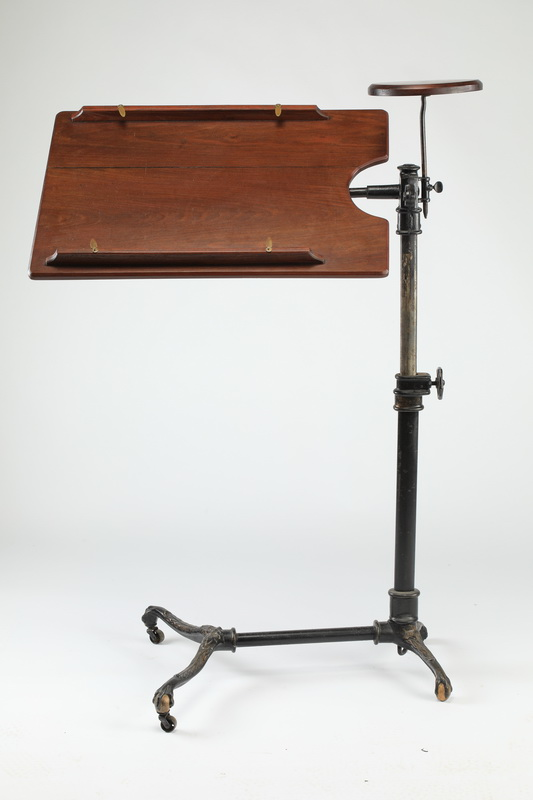 19th c. oak & cast iron drafting table, 44