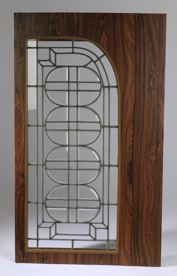 Art Deco style leaded glass architectural panel