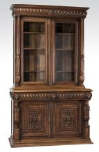 19th c. French carved walnut cabinet, 97