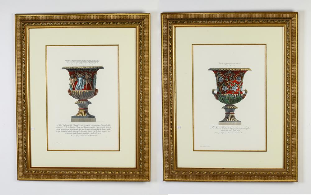 (2) Framed Neoclassical style prints, after Piranesi