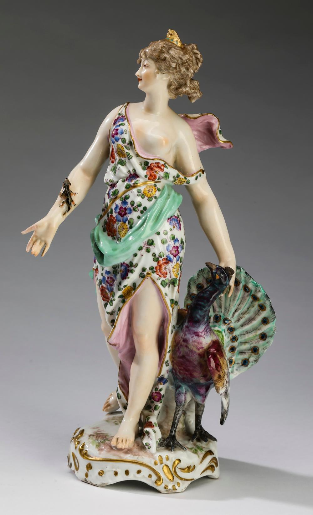 Porcelain figure of Juno by Samson and Co., ca 1940