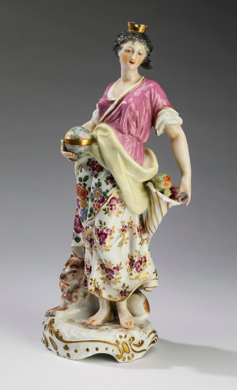 Porcelain figure of Cybele by Samson and Co., ca 1940